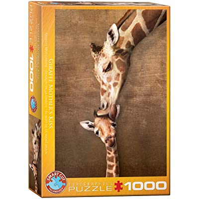 Eurographics Giraffe Mother's Kiss Puzzle, 1000-Piece: Toys & Games