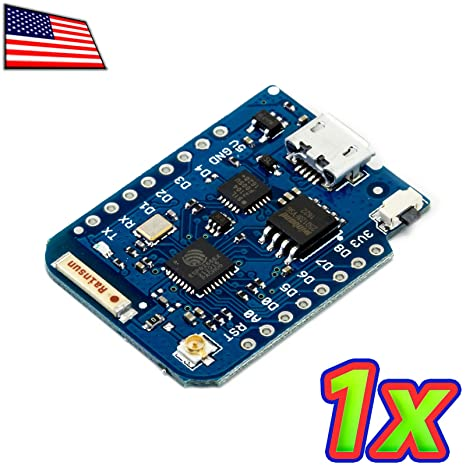 UPGRADE INDUSTRIES - D1 Pro Mini 128Mbit ESP8266 Arduino NodeMCU Compatible  32bit 80MHz ARM WiFi by UPGRADE INDUSTRIES
