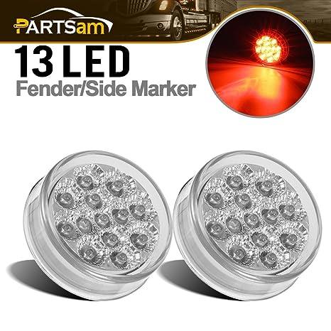 Amazon.com: Partsam 2 piezas Mini Reflex rojo claro lente ...