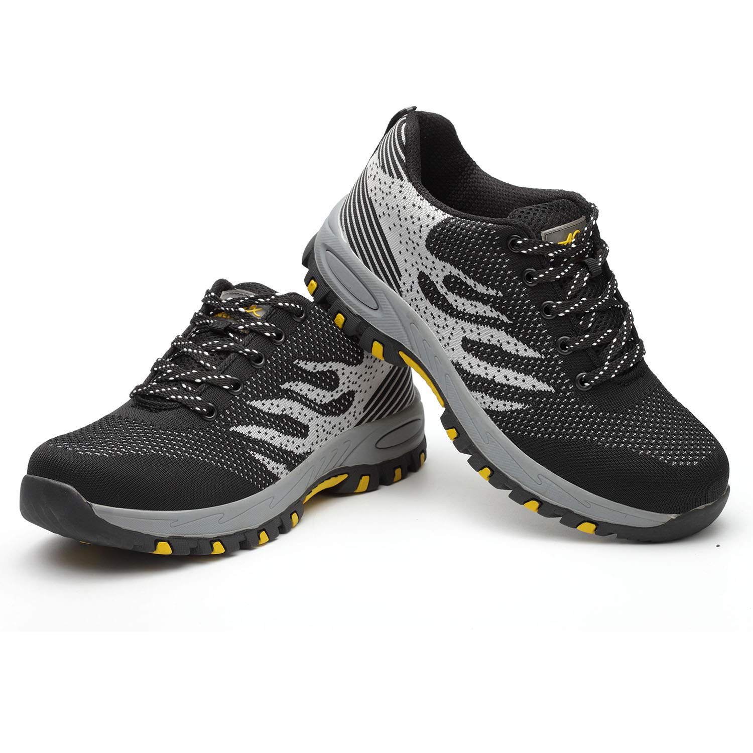 Barerun Work Steel Toe Safety Shoes for Men Women Lightweight Breathable Industrial /& Construction Protect Shoe