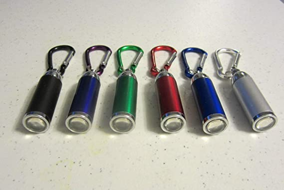 15 NEW CARABINER LED FLASHLIGHT KEYCHAINS WITH ZOOMABLE LIGHT KEY CHAIN RING