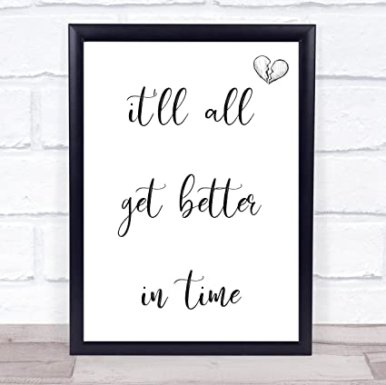 Amazon Better In Time Song Lyric Wall Art Quote Print Gift