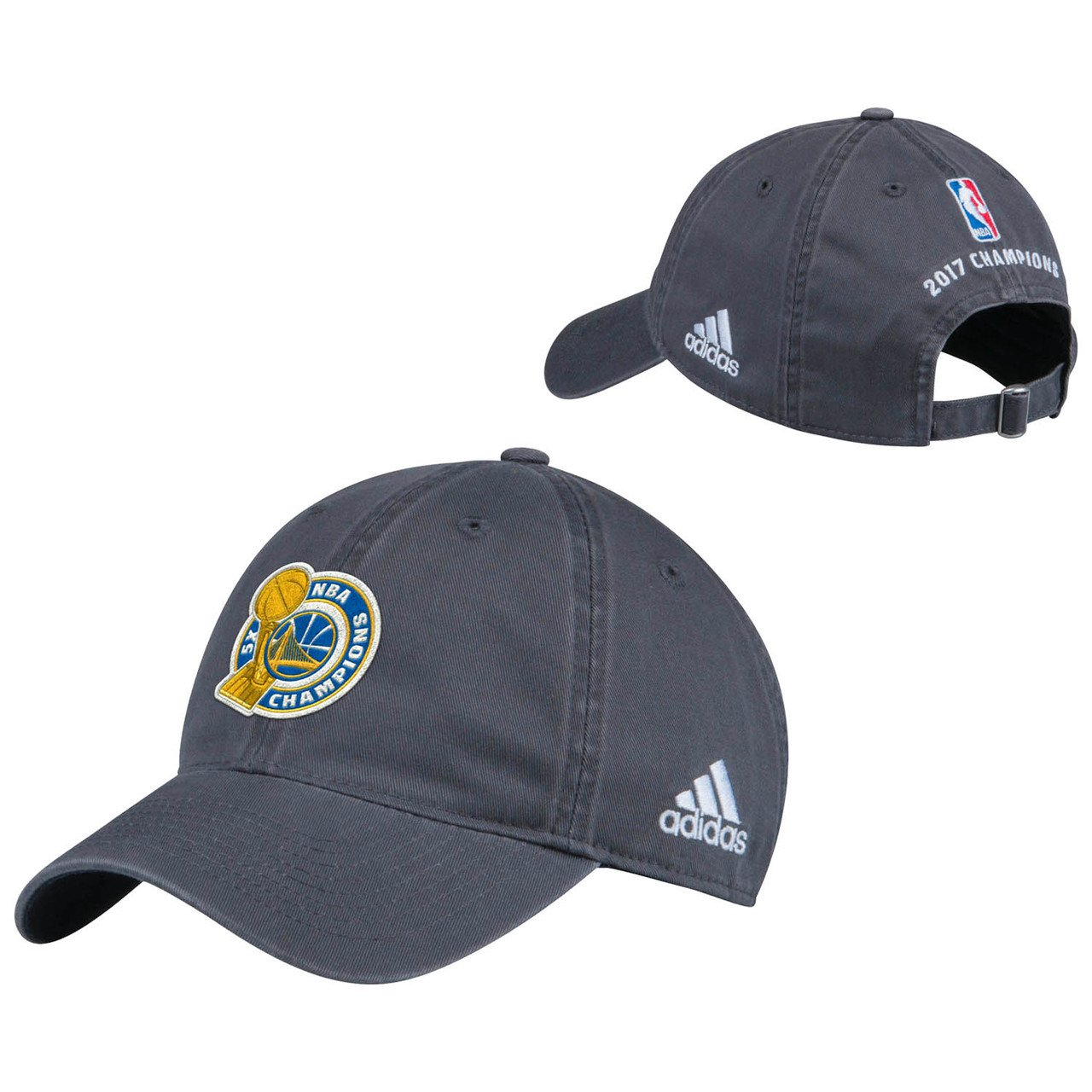 88c4aef8df3 Amazon.com   adidas Golden State Warriors 2017 NBA Finals Champions Grey  Locker Room Unstructured Adjustable Cap Hat   Sports   Outdoors