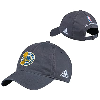 f4fbb7325dd adidas Golden State Warriors 2017 NBA Finals Champions Grey Locker Room  Unstructured Adjustable Cap Hat