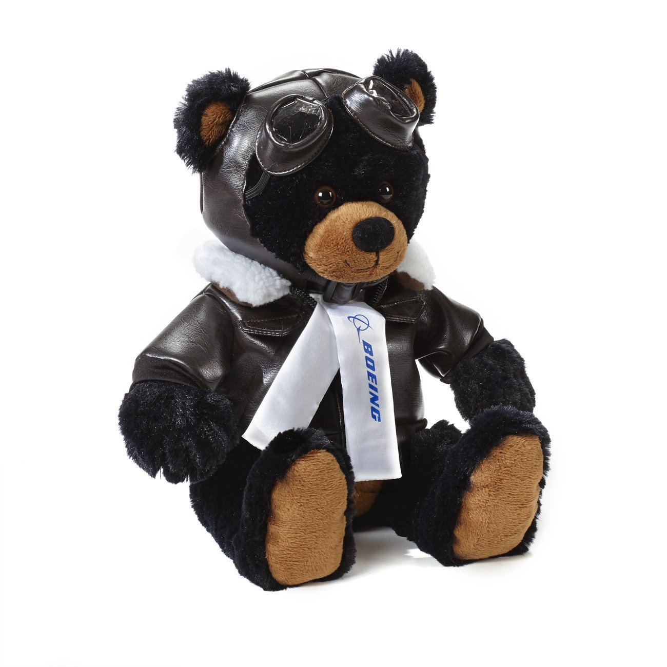 Amazon Com Boeing Large Black Aviator Bear Toys Games