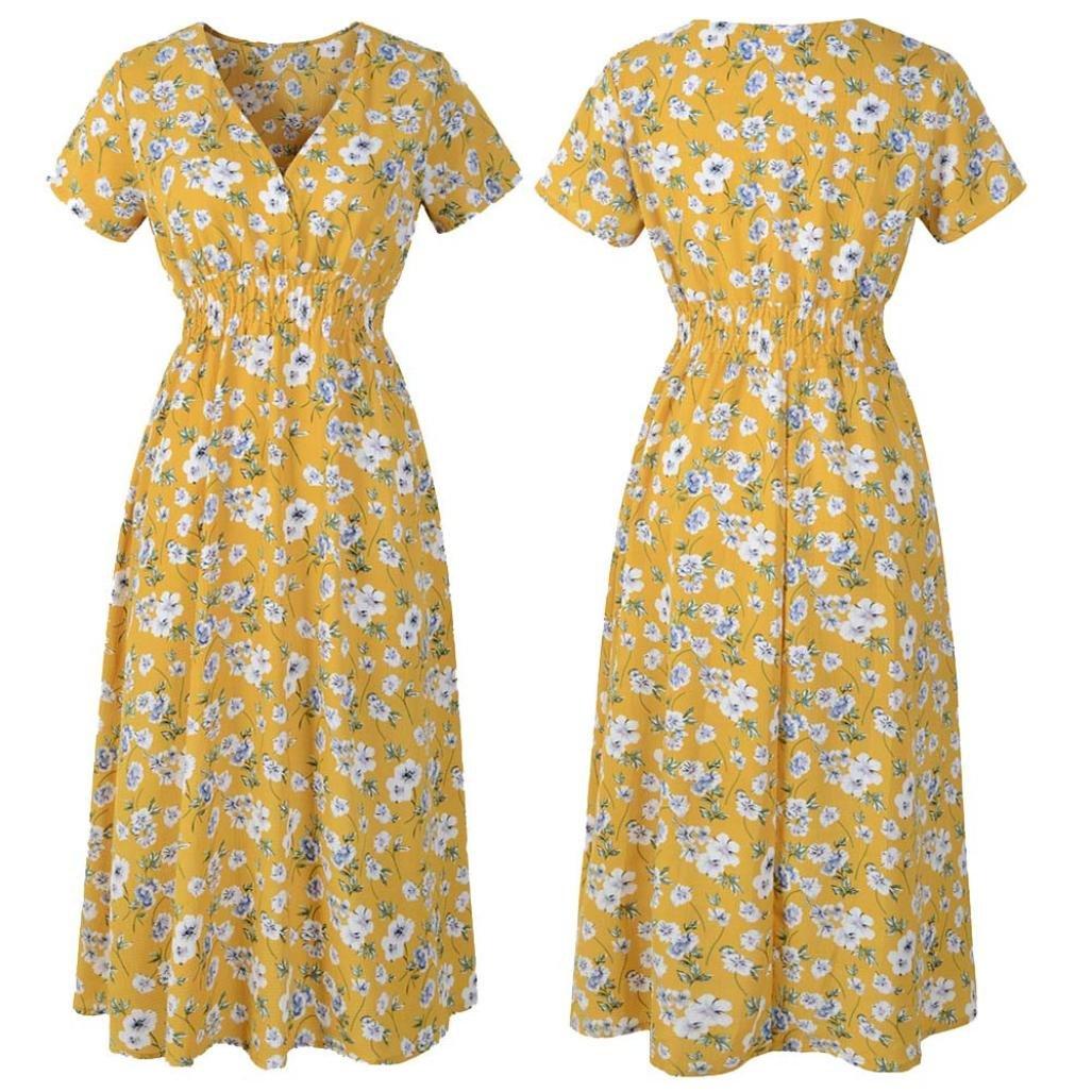 Vestido de Verano, RETUROM Mujeres Vestidos de Dama de Largo Gasa ...
