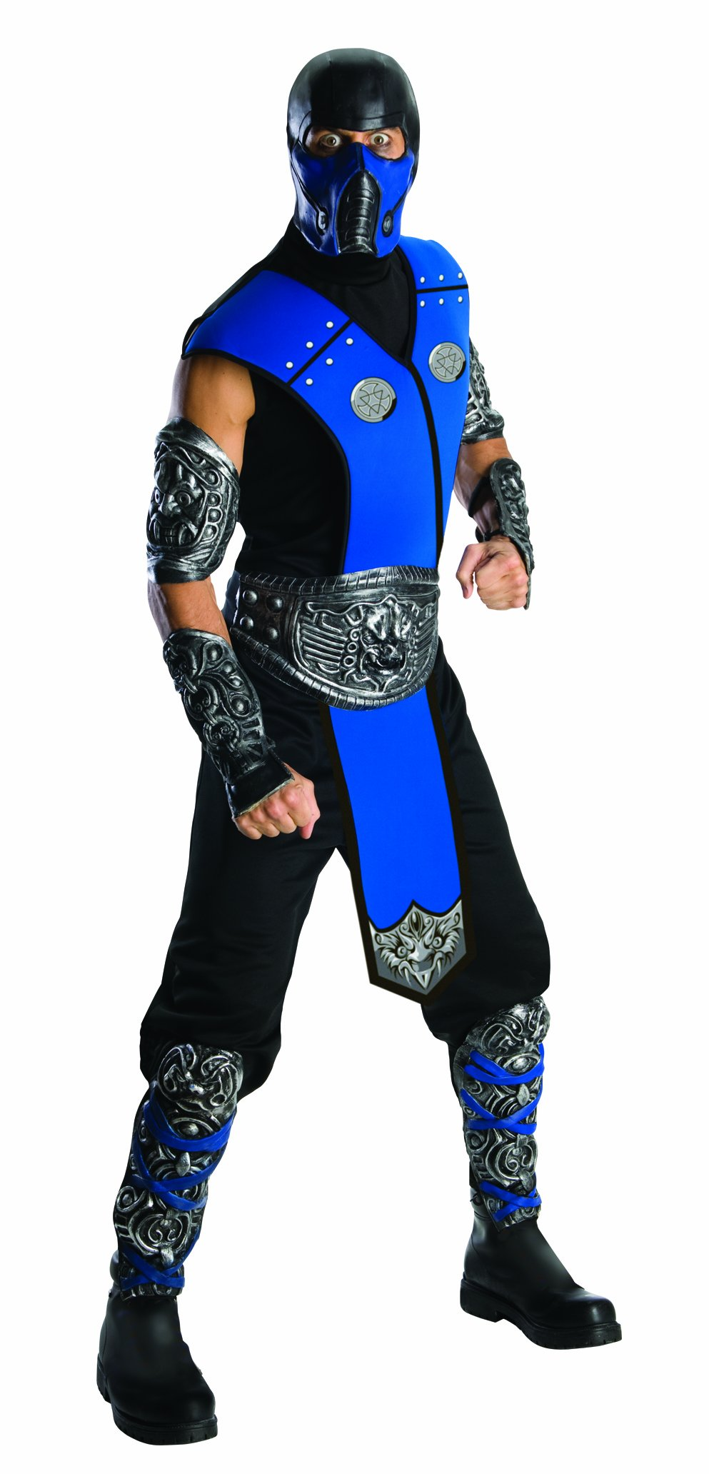 Mortal Kombat Sub Zero Adult Costume, Blue, One Size by Rubie's