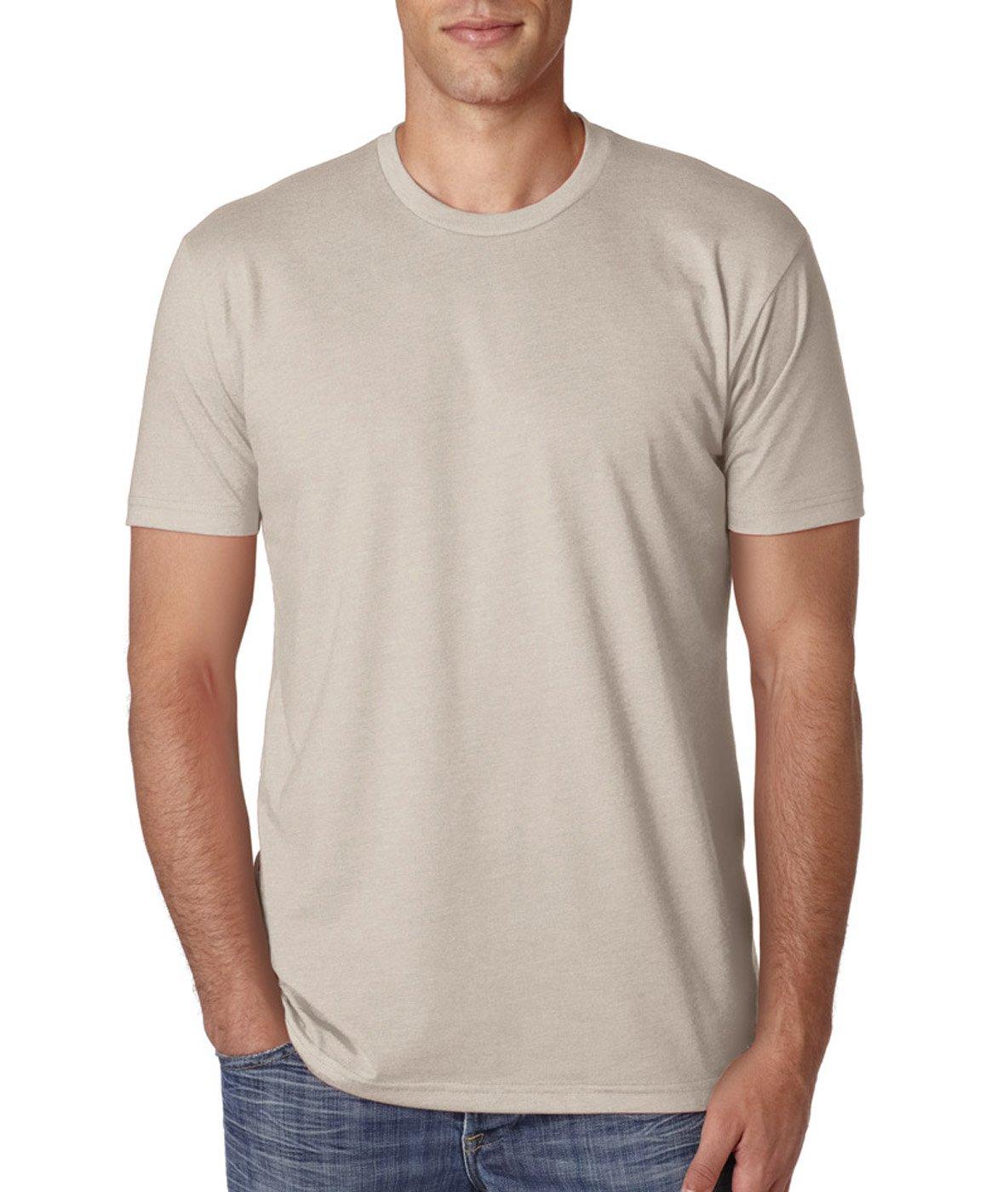 Next Level Apparel メンズ CVC クルーネック ジャージ Tシャツ B07D1BDSZM XX-Large|Black + Sand (2 Shirts) Black + Sand (2 Shirts) XX-Large