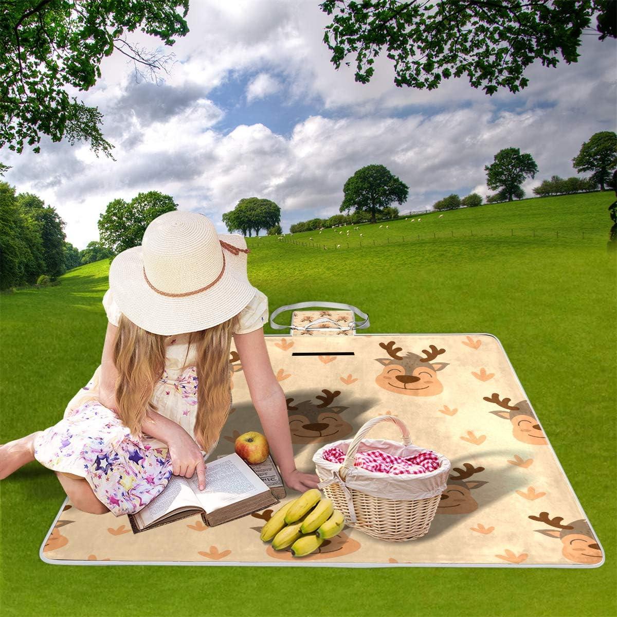 XINGAKA Coperta da Picnic Tappetino Campeggio,Teschi di Cuori Senza Giunte di Vettore,Giardino Spiaggia Impermeabile Anti Sabbia 12