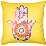 Alwan-Accessories Poly Cotton Multi Color 45 x 45 cm Cushion Cover for Good Luck - EE8280HYPO
