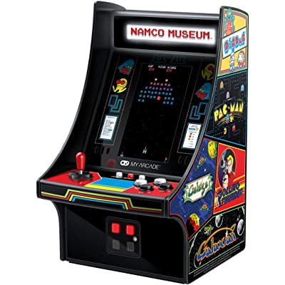 My Arcade Mini Player 10 Inch Arcade Machine: 20 Built In Games, Fully Playable, Pac-Man, Galaga, Mappy and More, 4.25 Inch Color Display, Speakers, Volume Controls, Headphone Jack, Micro USB Powered: Video Games