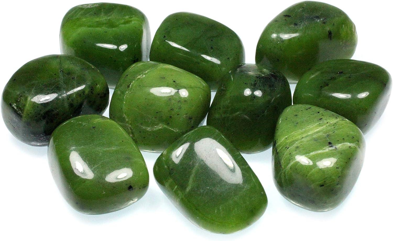 Amazon.com: CrystalAge Jade Tumble Stone (20-25mm) - Single Stone ...