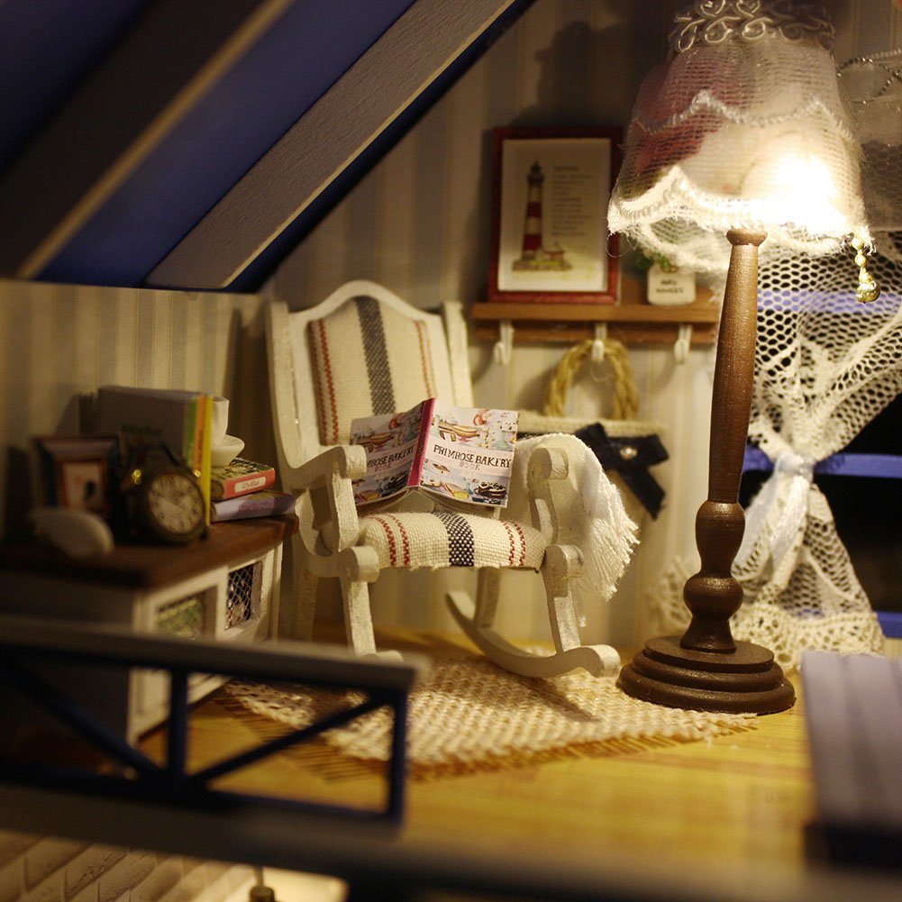 Pinke H/ütte mit Kirschbaumblume Oshide Puppenhaus S/ü/ß Haus DIY House mit Licht als Kinder Geschenk