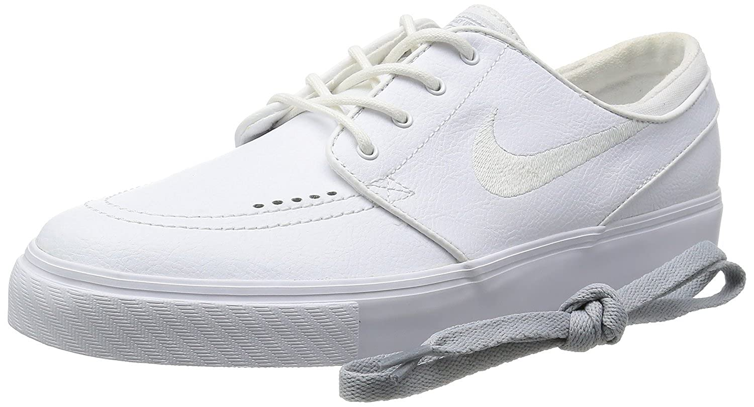86b54f206425 Nike Men s Zoom Stefan Janoski L White White Wolf Grey Skate Shoe 13 Men  US  Buy Online at Low Prices in India - Amazon.in