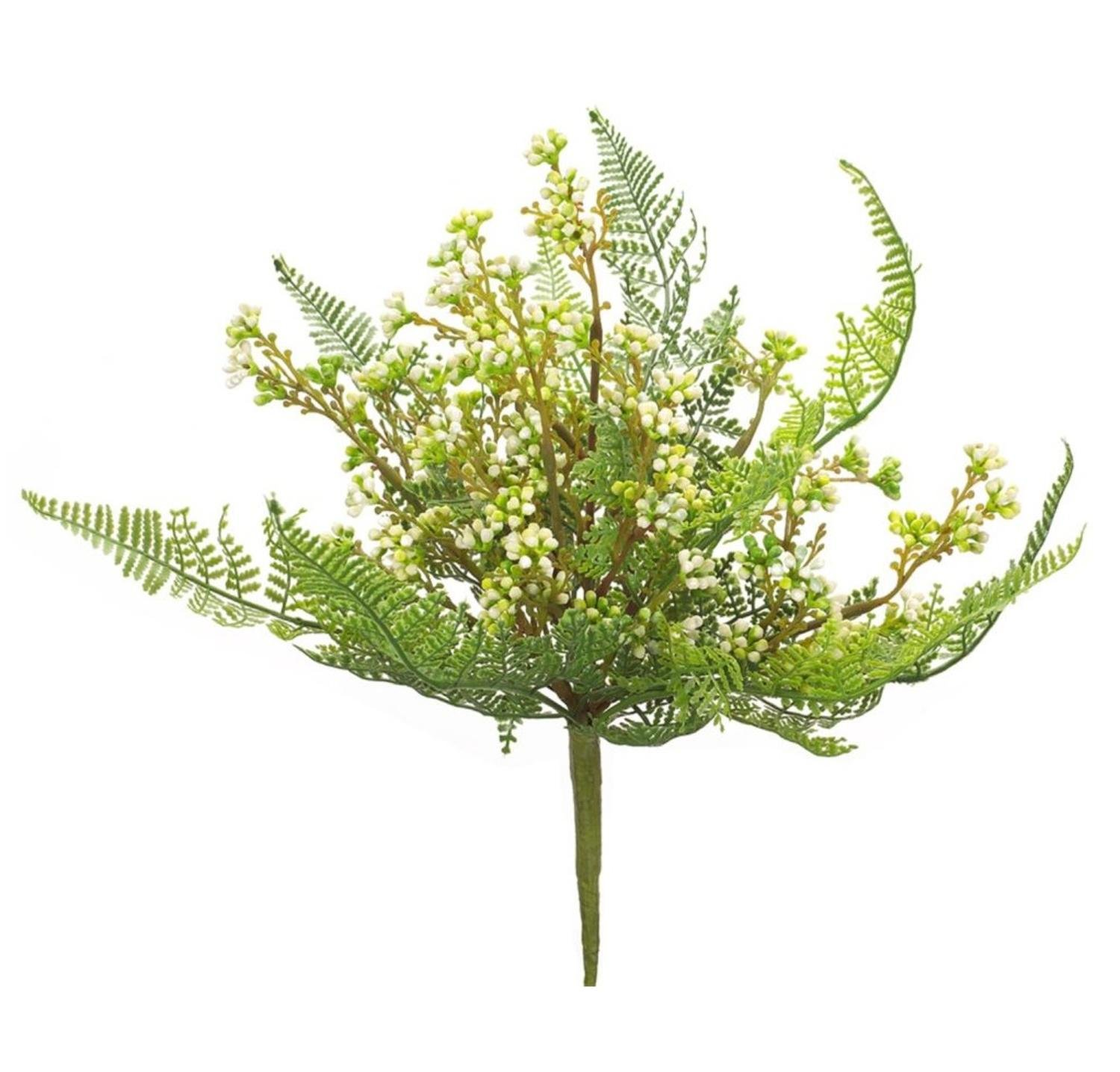 Club Pack of 12 Exquisite Springtime Artificial Fern Berry Pick 11''