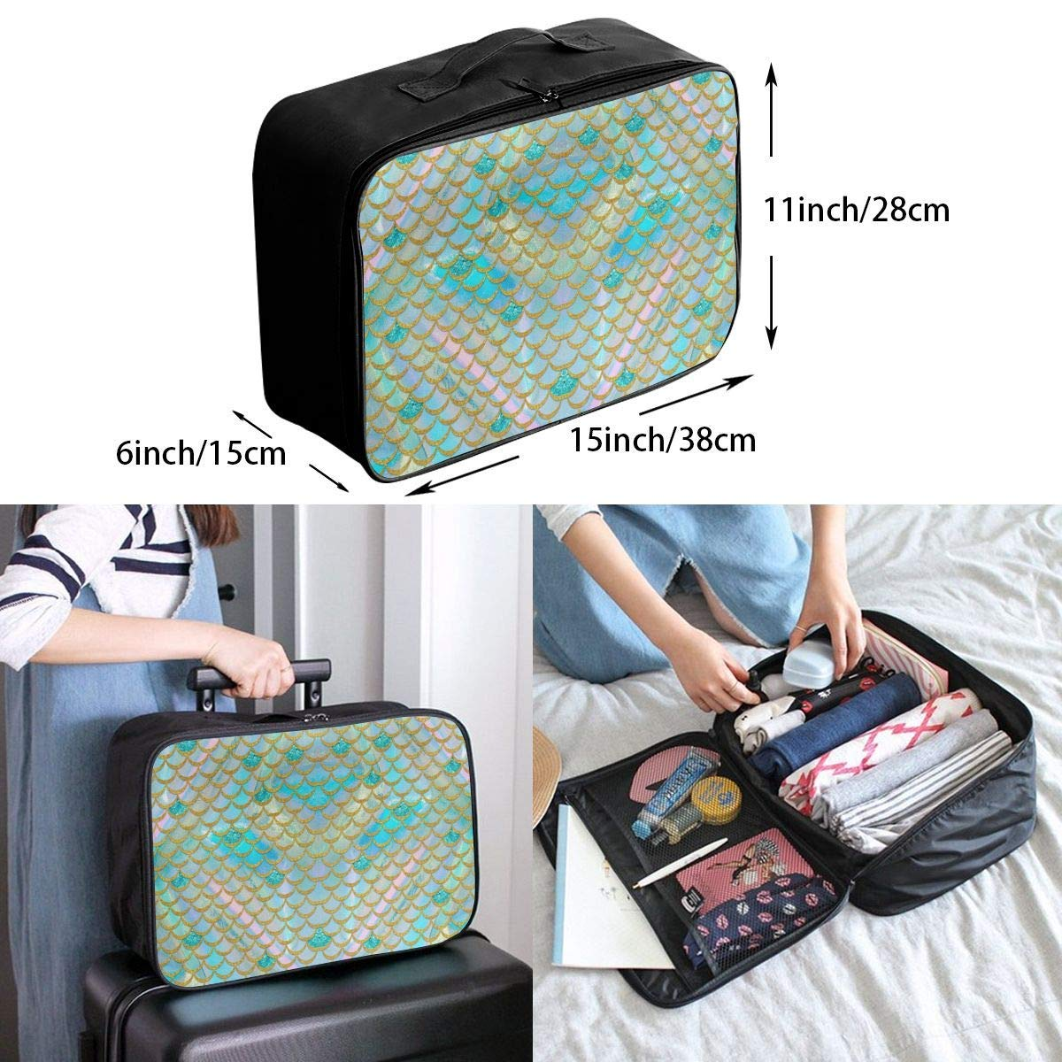 Weed Pattern Travel Duffel Bag Waterproof Fashion Lightweight Large Capacity Portable Luggage Bag