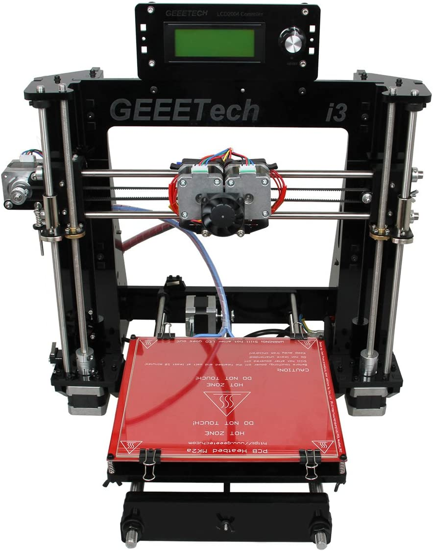 Geeetech Acrylic Prusa I3 Dual extruder MK8 All Metal Part 3D Printer LCD2004