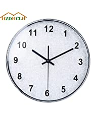 HZDHCLH Wall Clock 12 Inch Silent Non Ticking Clock for Living Room Bedroom Kitchen Office