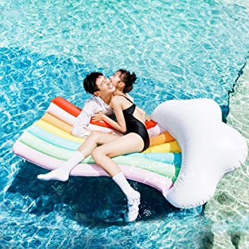 Amazon.com: Volwco - Tumbona de piscina con forma de nube ...