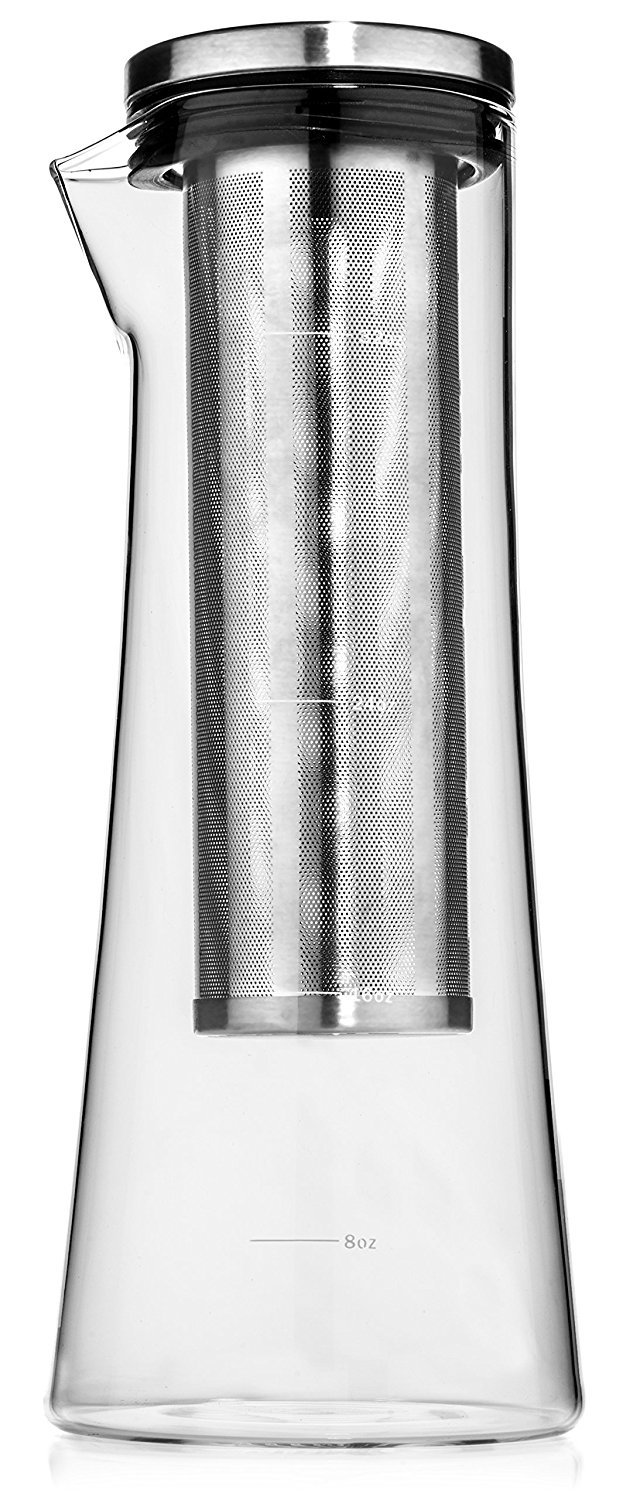 Maya & Ethan Cold Brew Coffee Maker and Loose Leaf Tea Infuser, 32 ounces