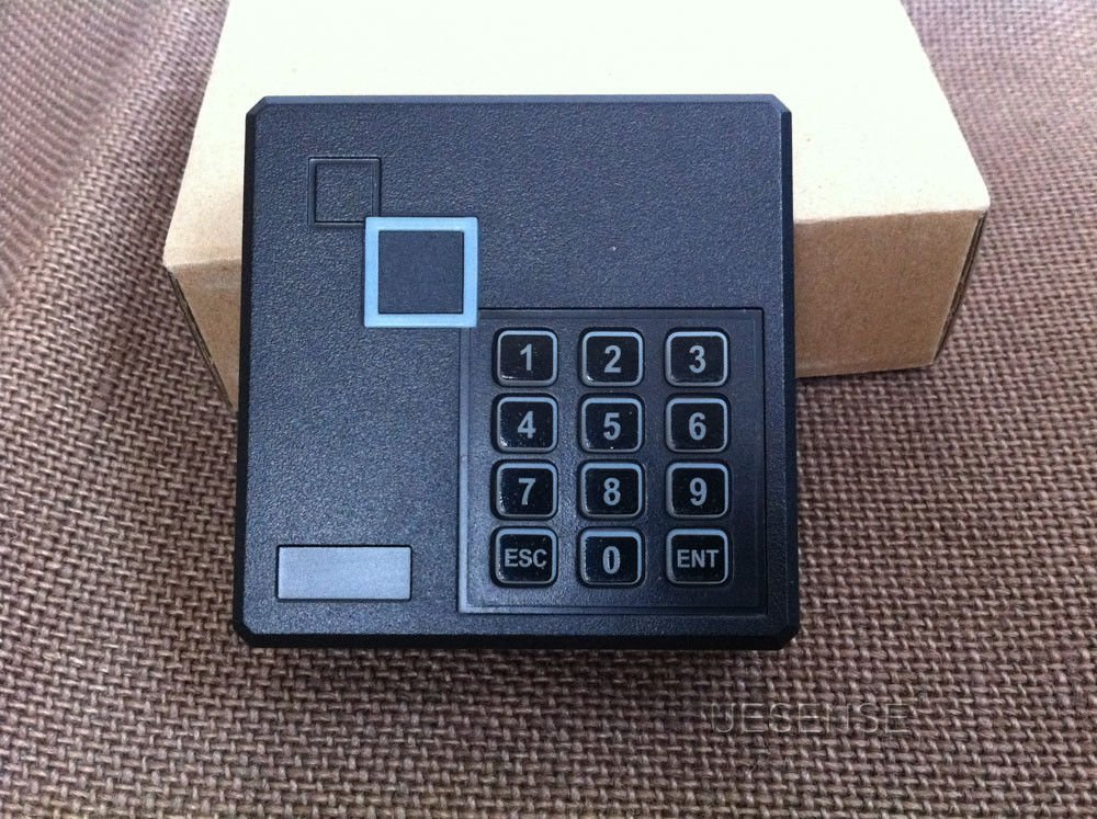 6 Doors Controlled Entry Systems 600lbs Mag lock 110V power box RFID Keypad Reader RFID Keyfods Push Exit Button