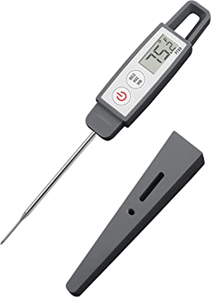 Lavatools PT09C Commercial Grade Digital Instant Read Meat Thermometer for Kitchen, Food Cooking, Grill, BBQ, Smoker, Candy, Home Brewing, and Oil Deep Frying (Sesame Compact)