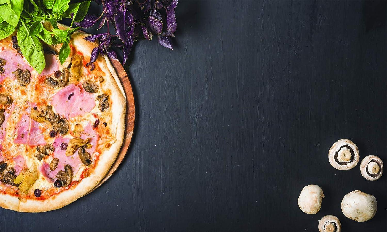 Cuadro sobre lienzo de alta calidad, 100 x 60 cm, para restaurante de pizzería con temática de pizza y pasta de cocina italiana, especias y sabores
