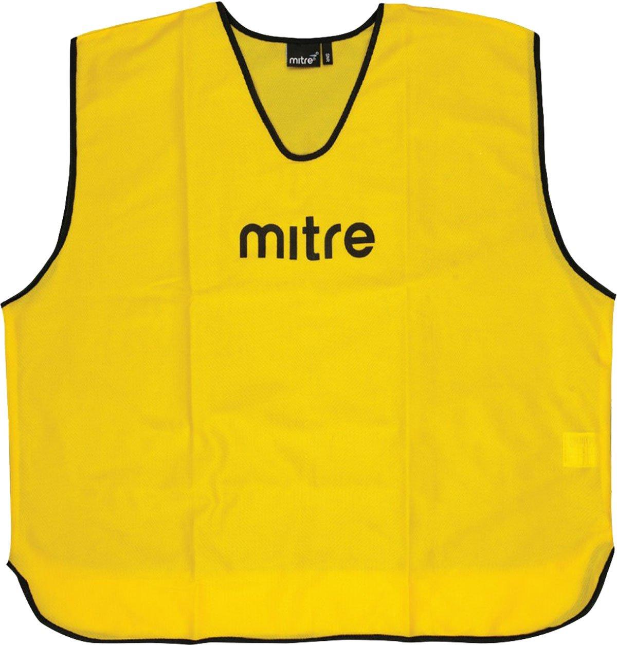 Mitre Coreネットボール/サッカースポーツチームウェアポリエステル100 %トレーニングBibs 25個パック B01CSU0LM6イエロー Senior