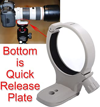 with Arca-Swiss Quick Release Plate for Tripod Ball Head 80-200mm f//2.8L 400mm f//5.6L USM iShoot 65.5mm Lens Collar Support for Canon EF 70-200mm f//4L USM//is USM//is II USM Tripod Mount Ring
