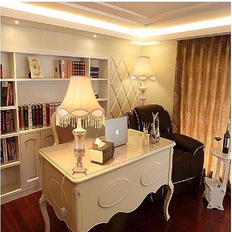 ZHGI Lámpara de mesa Europea, muebles sala de estar mesa de centro ...