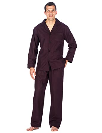 Box Packaged] Noble Mount Mens Premium 100% Cotton Flannel Pajama ...