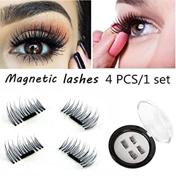 c103d73b1b6 Image Unavailable. Image not available for. Colour: CGT 3D Magnetic  Eyelashes For Women Natural Thick Long False ...