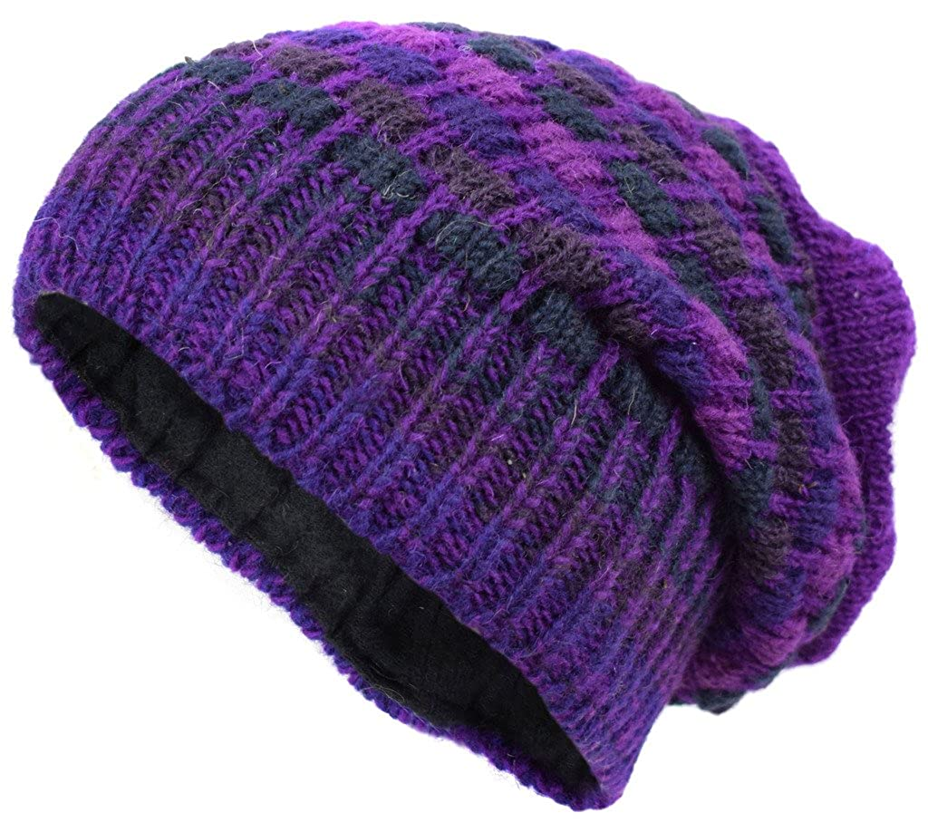 42e1ee05c4ee64 Little Kathmandu Woolen Knitted Fleece Lined Multicoloured Beanie Hats A:  Amazon.co.uk: Clothing