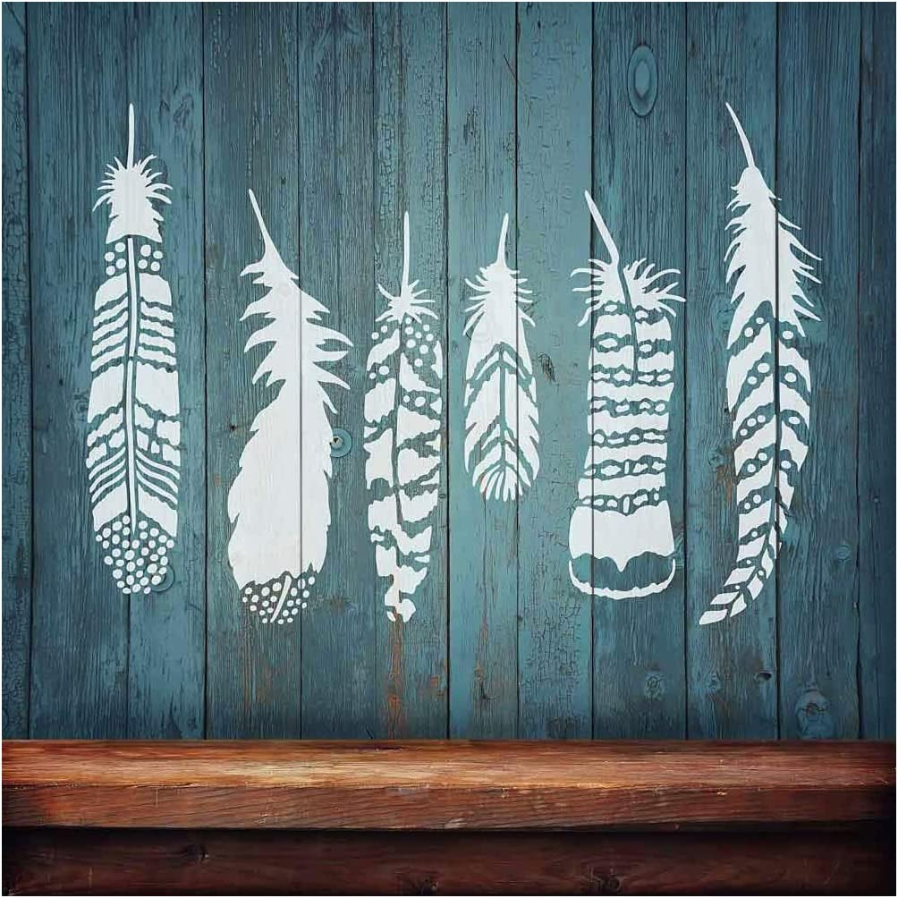 Tribal Wall Pattern Stencil Indian Arrows Allover Stencil Fun DIY Home Decor