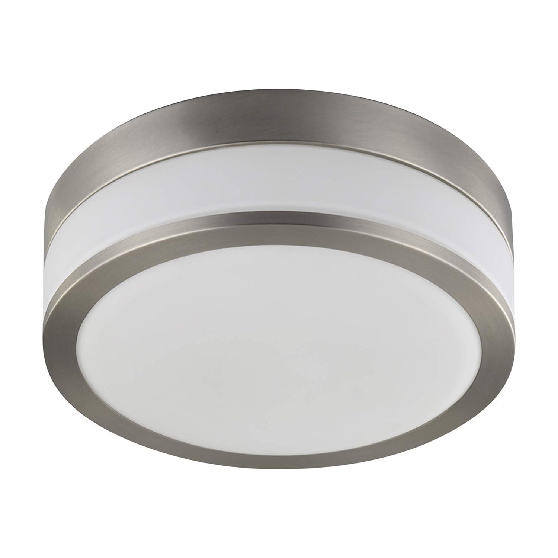 Lampenwelt DeckenleuchteFlavi dimmbar (spritzwassergeschützt) (Modern) in Weiß aus Metall u.a. für Badezimmer (2 flammig, E27, A++)   Bad-Deckenleuchte, Deckenlampe, Lampe, Badezimmerleuchte [Energieklasse A++]