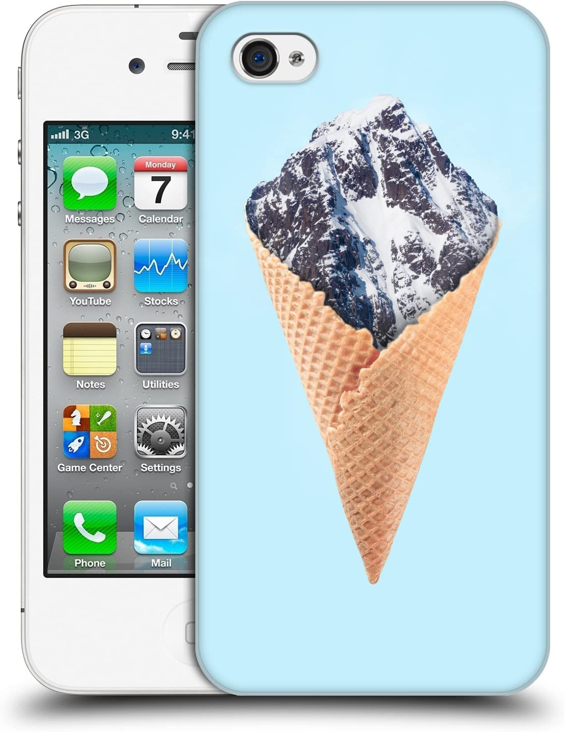 Head Case Designs Officially Licensed Paul Fuentes Mountain Ice Cream Junk Food Hard Back Case Compatible with Apple iPhone 4 / iPhone 4S