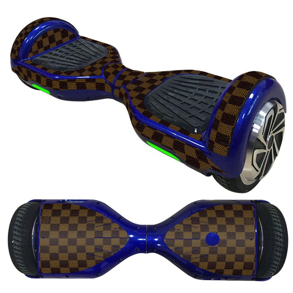 FidgetFidget Balance Scooter Dark Brown mosaic Vinyl Skin Wrap For Electric Hoverboard 6.5''