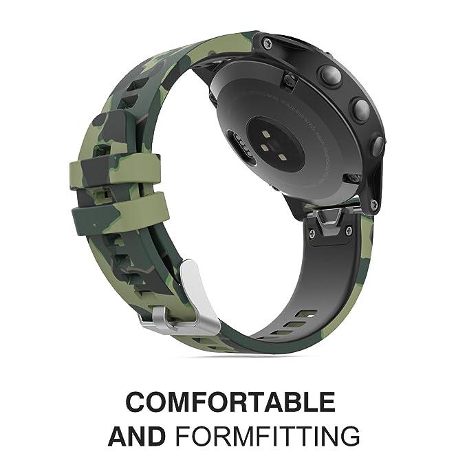 MoKo Garmin Fenix 5 Banda, Silicona Reemplazo Correa con 2pzs Destornilladores para Garmin Garmin Fenix 5/5 Plus/Instinct/Approach S60 Watch, ...