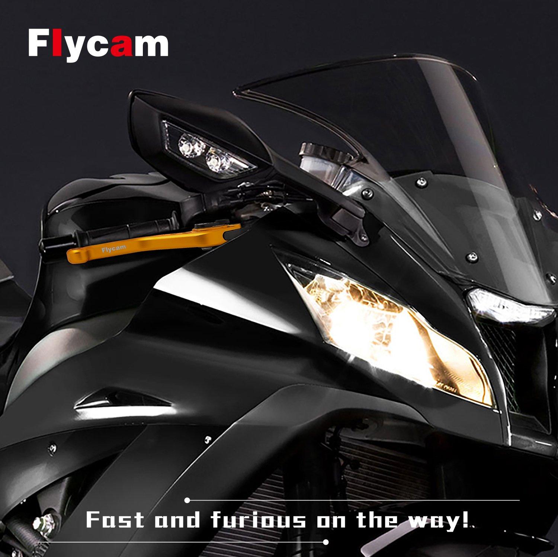FLYCAM Frenos y Embrague Palancas Ajustable Aluminio CNC Corto Palanca para CBR 600 F2,F3,F4,F4i 1991-2007 CBR900RR 1993-1999 CB599/CB600 Hornet 1998-2006 ...