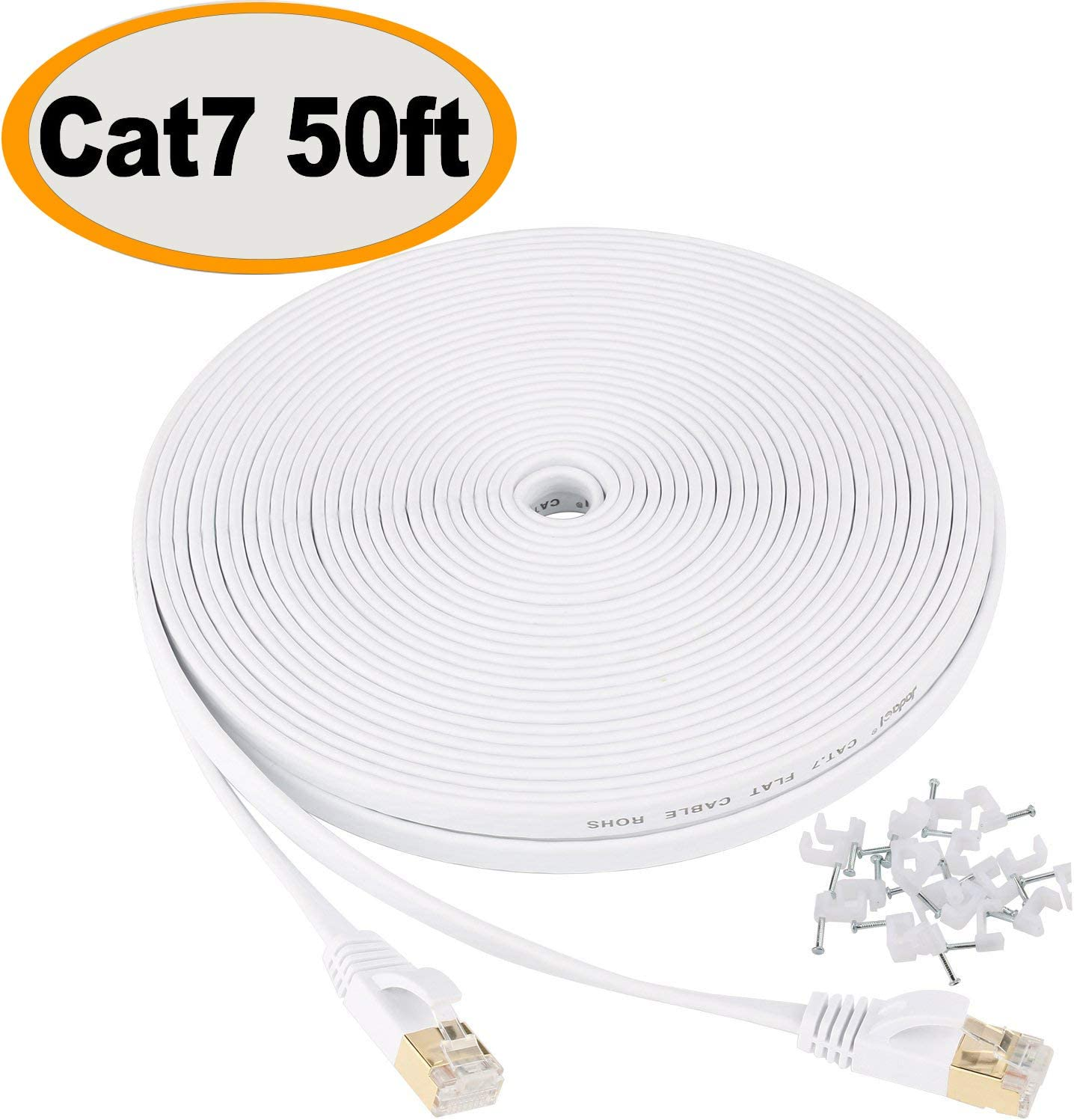 Fast Ethernet LAN Network Data Cable Shielded Router Modem Xbox Computer 50ft
