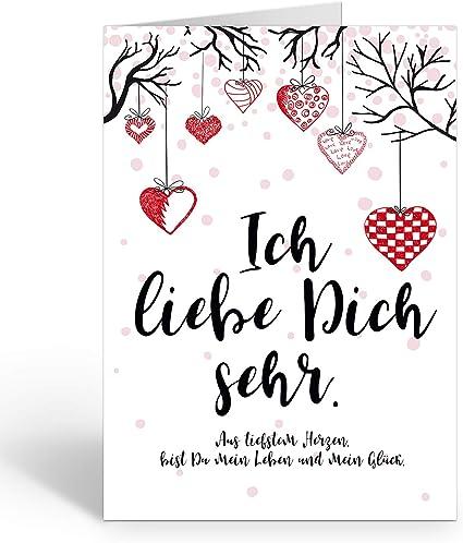 Grosse Xxl Karte Mit Umschlag A4 Motiv Ich Liebe Dich Sehr
