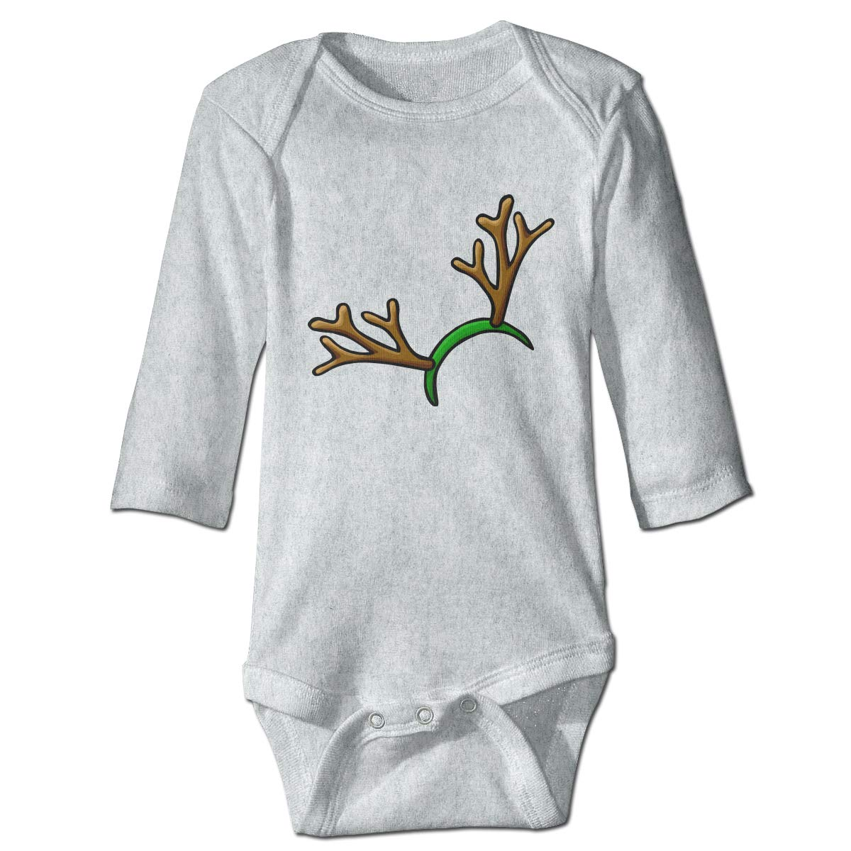 Wangx-4 Infant Baby Girl Boys Christmas Reindeer Antlers Long Sleeve Outfits Bodysuit Jumpsuit 0-24 Months