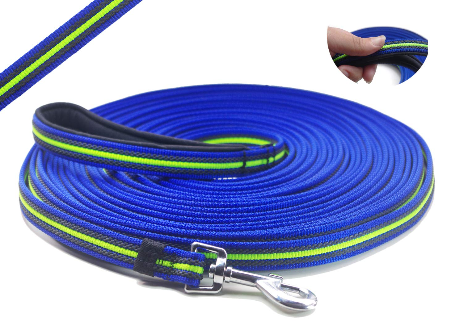 YOOGAO Pet Dog Training Leash Long Dog Lead with Special Non-Slip Design and Padded Handle, 10-50 ft, for Any Szie of Dogs by YOOGAO Pet