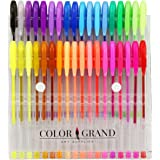 Art School Gel Pens - 36 Gel Pen Set and Glitter Gel Pens for Adult Coloring Books (1-Pack (36 pens))