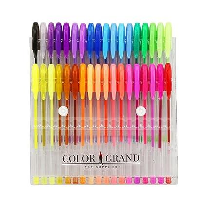 amazon com art school gel pens 36 gel pen set and glitter gel