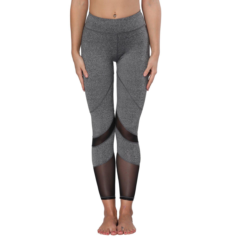 NEW Womens Capri Leggings Pocket Tummy Control Workout Exercise Yoga Pants M815
