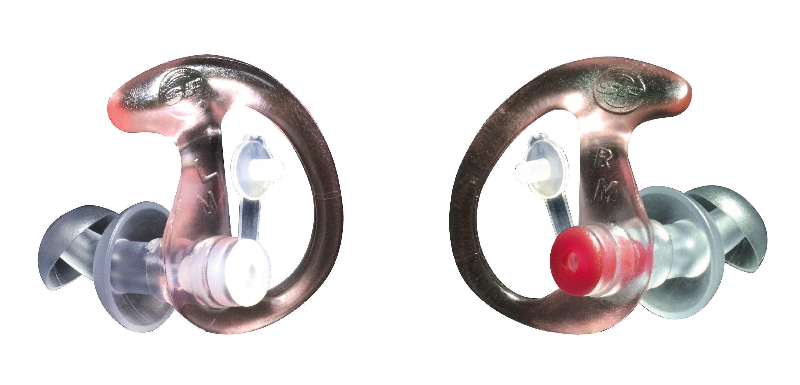 SureFire EP3 Sonic Defender Earplugs (25 Pair), Clear, Medium by SureFire