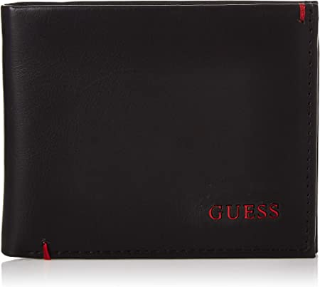 GUESS Mens Leather Slim Bifold Wallet