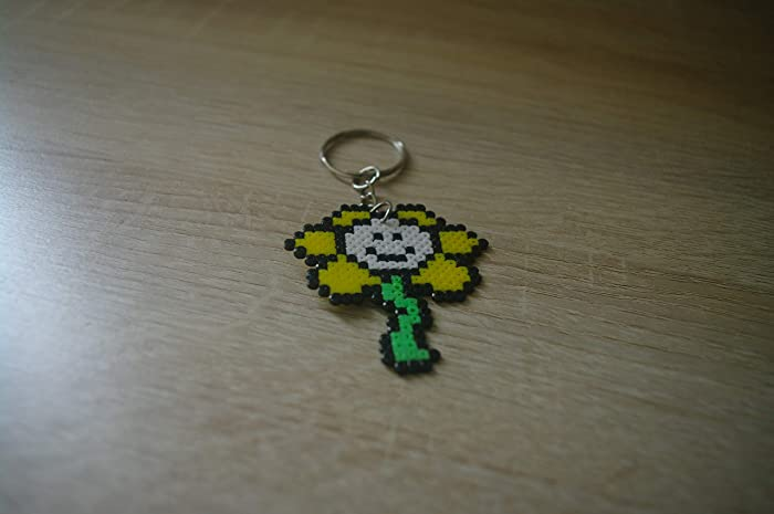 Amazon.com: Keychain PFlowey Undertale - Hama beads/Pixel ...