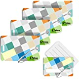 Luggage Tags for Suitcases, Vakoo 4-Pack Bright Baggage Tag Set with Partial Privacy Cover Name ID Card Label & Stainless Ste